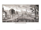 """Central Part of Concord  from """"Historical Collections of Massachusetts"""""""