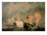 The Battle of Navarino  20th October 1827  1846 (Oil on Canvas)