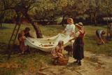 Les ramasseuses de pommes,1880 Giclée par Frederick Morgan