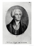 Portrait of Count Joseph De Maistre (1753-1821)  Engraved by Francois Le Villain