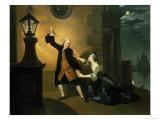 David Garrick (1717-79) as Jaffier and Susannah Maria Cibber (1714-76) as Belvidera