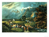The Rocky Mountains: Emigrants Crossing the Plains  1866