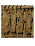The Visitation  Four Jamb Figures from the West Facade of the Cathedral  circa 1230-40