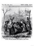 "Colored Scholars Learning Their Lessons on the Street  from ""Harper's Weekly "" 1867"