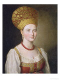 Peasant Woman in Russian Costume  1784