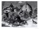 Thanksgiving Day: Ways and Means  from &quot;Harper&#39;s Weekly &quot; 27th November 1858