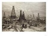 The Petroleum Oil Wells at Baku on the Caspian Sea  19th June 1886