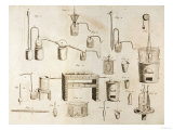 Scientific Equipment  from &quot;The Elements of Chemistry&quot; by Antoine Laurent De Lavoisier (1743-94)