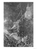 "The Centennial Fourth: Illumination of Independence Hall  Philadelphia  from ""Harper's Weekly"""