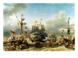 The Embarkation of the De Ruyter and the De Witt off Texel in 1667  1850-51
