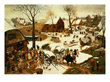 Census at Bethlehem  C1566 (Oil on Panel)