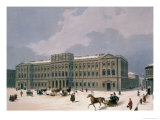 Palace of the Grand Duke of Leuchtenberg in St Petersburg  Printed by Lemercier  Paris  1840s