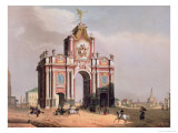 The Red Gate in Moscow  Printed by Lemercier  Paris  1840s