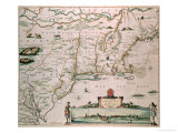 "New Belgium  Plate from ""Atlas Contractus"" circa 1671"