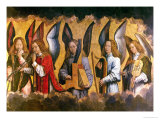 Angels Playing Musical Instruments  Right Hand Panel from a Triptych