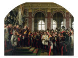 The Proclamation of Wilhelm as Kaiser of the New German Reich  in the Hall of Mirrors at Versailles