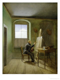 Caspar David Friedrich (1774-1840) in His Studio  1811