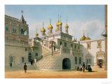 View of the Boyar Palace in the Moscow Kremlin  Printed by Lemercier  Paris  1840s