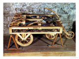 Model of a Car Driven by Springs  Made from One of Leonardo's Drawings