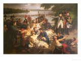 Return of Napoleon (1769-1821) to the Island of Lobau after the Battle of Essling 1809  1812