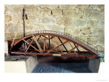 Model of a Swing Bridge Made from One of Leonardo&#39;s Drawings