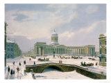 Kazan Cathedral  St Petersburg  Printed by Lemercier  Paris  1840s