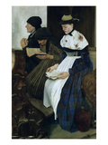 Three Women in Church  1882 (Oil on Panel)