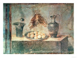 Still Life with Eggs and Thrushes  from the Villa Di Giulia Felice  Pompeii