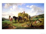 The Hay Harvest  1869