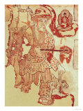 Chinese Figure Possibly Hsuan-Tsang (602-664) Carrying the Buddhist Scriptures
