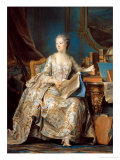 Jeanne Poisson (1721-64) the Marquise De Pompadour  1755