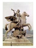 "Fame Riding Pegasus (""Le Cheval De Marly"") 1699-1702"