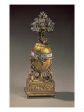 Easter Egg in the Form of a Vase Containing Flowers  1899 (Metal & Enamel)