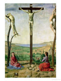 Calvary Or  Christ Between the Two Thieves with Mary and John the Baptist  1475