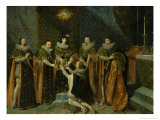 Louis XIII (1601-43) Receiving Henri D&#39;Orleans (1595-1663) Duc De Longueville