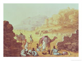 "A Slave Caravan  Plate from ""A Narrative of Travels in Northern Africa "" 1821"