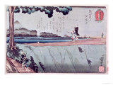 Mount Fuji from the Sumida River Embankment  One of the Views from Edo  circa 1842