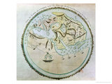 Map of the World  Copied by Doctor Vincent for His Book on the Journey of Arrian (circa 95-180)