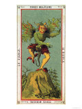 The Devil  Tarot Card from the Grand Etteilla