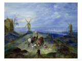 Landscape with Two Windmills  1612
