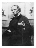 Charles Baudelaire (1821-67) with Engravings  circa 1863