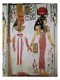 Isis and Nefertari  from the Tomb of Nefertari  New Kingdom (Mural)