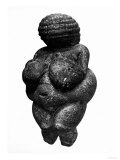 The Venus of Willendorf  Side View of Female Figurine  Gravettian Culture  Upper Paleolithic Period