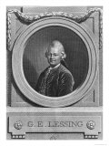 Portrait of Gotthold Ephraim Lessing (1729-81) Engraved by Johann Friedrich Bause (1738-1814) 1772