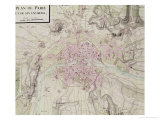 """Map of Paris and Its Surroundings  from """"Oisivetes"""""""