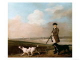 Sir John Nelthorpe  6th Baronet out Shooting with His Dogs in Barton Field  Licolnshire  1776