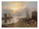 Sun Rising Through Vapour: Fishermen Cleaning and Selling Fish  c1807