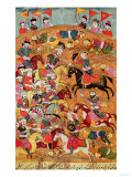 Battle Between the Persians and the Turanians  Illustration from the Shahnama (Book of Kings)