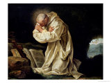 St Bruno (1030-1101) Praying in the Desert  1763