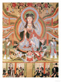 Buddhist Banner Depicting Dizang and the Six Roads to Rebirth  from Dunhuang (Painting on Silk)